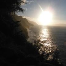 Na Pali Coast, Kauai, Hawaii, Sunset, The Kalalau Trail