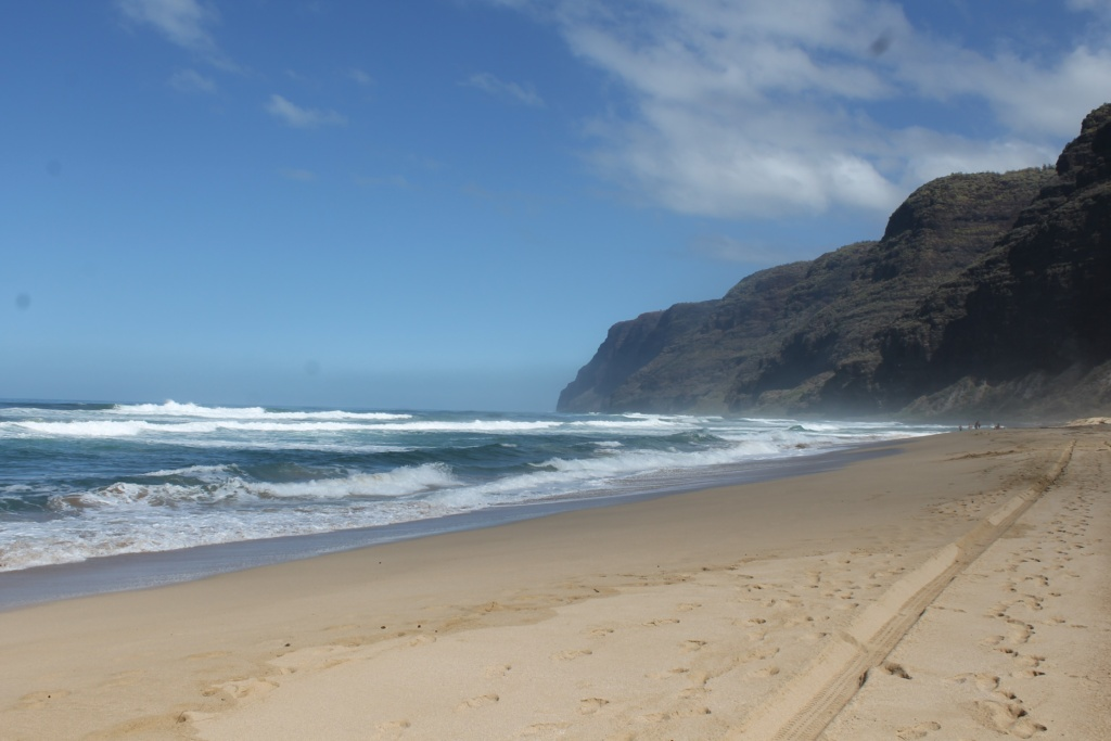 Polihale State Park Beach View in Kauai Hawaii