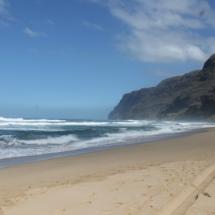 Polihale State Park Beach View in Kauai Hawaii