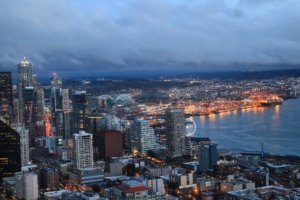 Seattle, Washington view from Space Needle